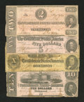 Confederate Notes:Group Lots, Four CSA 1862 Notes.. ... (Total: 4 notes)