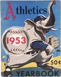 Baseball Collectibles:Publications, 1953 Philadelphia Athletics Yearbook...