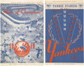 Baseball Collectibles:Publications, Yankee Program And Scorecards Lot of 2....