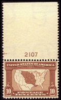 Stamps, #327, 1904, 10c Red Brown, VF-XF 85 PSE. (Original Gum - Never Hinged)....