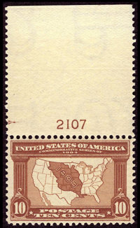 #327, 1904, 10c Red Brown, VF-XF 85 PSE. (Original Gum - Never Hinged)