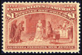 Stamps, #241, 1893, $1 Salmon, XF 90 PSE. (Original Gum - Previously Hinged)....