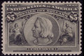 Stamps, #245, 1893, $5 Black, F 70 PSE. (Original Gum - Never Hinged)....