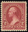 Stamps, #249, 1894, 2c Carmine Lake, XF-S 95 PSE. (Original Gum - Never Hinged).... (Total: 1 Slab)