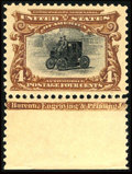 Stamps, #296, 1901, 4c Red Brown And Black, XF-S 95J PSE. (Original Gum - Never Hinged)....