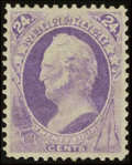 Stamps, #153, 1870, 24c Purple, XF 90 PSE. (Original Gum - Previously Hinged)....