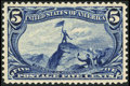 Stamps, #288, 1898, 5c Dull Blue, XF-S 95; PSE. (Original Gum - Never Hinged)....