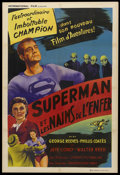 "Movie Posters:Action, Superman and the Mole Men (Lippert, 1951). French Poster (31.5"" X 47""). Action...."