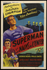 """Superman and the Mole Men (Lippert, 1951). French Poster (31.5"""" X 47""""). Action"""
