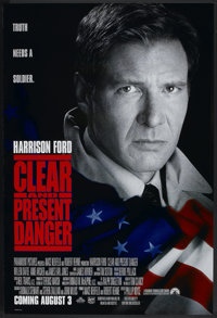 """Clear and Present Danger (Paramount, 1994). One Sheet (27"""" X 40"""") DS Advance. Thriller"""