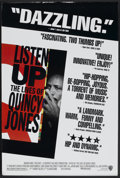 """Movie Posters:Documentary, Listen Up: The Lives of Quincy Jones (Warner Brothers, 1990). One Sheet (27"""" X 40"""") SS. Documentary...."""