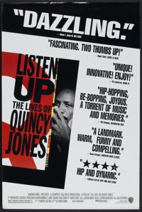 """Listen Up: The Lives of Quincy Jones (Warner Brothers, 1990). One Sheet (27"""" X 40"""") SS. Documentary"""