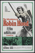 "Movie Posters:Adventure, The Adventures of Robin Hood (United Artists, R-1960). One Sheet(27"" X 41""). Adventure...."