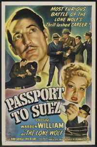 "Passport to Suez (Columbia, 1943). One Sheet (27"" X 41""). Crime"