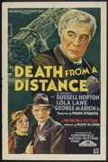"Movie Posters:Mystery, Death from a Distance (Chesterfield, 1935). One Sheet (27"" X 41"").Mystery...."