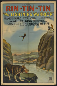 "The Lightning Warrior (Mascot, 1931). One Sheet (27"" X 41""). Chapter 7 -- ""The Ordeal of Fire"". Seri..."