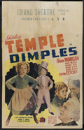"Movie Posters:Musical, Dimples (20th Century Fox, 1936). Window Card (14"" X 22""). Musical...."