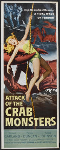 "Movie Posters:Science Fiction, Attack of the Crab Monsters (Allied Artists, 1957). Insert (14"" X36""). Science Fiction...."