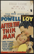 "Movie Posters:Mystery, After the Thin Man (MGM, 1936). Window Card (14"" X 22"").Mystery...."