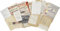 Movie/TV Memorabilia:Memorabilia, Billy Wilder Stalag 17 Correspondence and Press Archive....