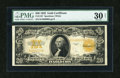 Large Size:Gold Certificates, Fr. 1187 $20 1922 Gold Certificate PMG Very Fine 30 Net....