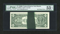 Error Notes:Ink Smears, Fr. 1905-A $1 1969B Federal Reserve Note. PMG About Uncirculated 53EPQ.. ...