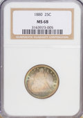 Seated Quarters, 1880 25C MS68 NGC....