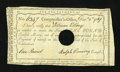 Colonial Notes:Connecticut, Connecticut Interest Payment Certificate £1 Dec. 2, 1789 VeryFine....