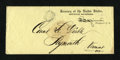 Fractional Currency:First Issue, Rules for Redemption Pamphlet Contained in a Printed SpinnerFree-Franked Envelope Feb. 13, 1869. ...