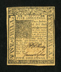 Colonial Notes:Delaware, Delaware January 1, 1776 5s Choice New....