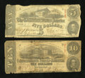 Confederate Notes:1863 Issues, Two Different 1863 Notes.. ... (Total: 2 notes)