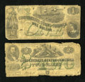 Confederate Notes:1862 Issues, Two Different Green Overprint Notes.. ... (Total: 2 notes)