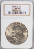 Eisenhower Dollars: , 1977-D $1 MS65 NGC. NGC Census: (1552/126). PCGS Population (1020/261). Mintage: 32,983,006. Numismedia Wsl. Price for NGC/...