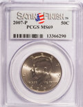 Kennedy Half Dollars, 2007-P 50C Satin Finish MS69 PCGS. PCGS Population (157/0). (#149531)...