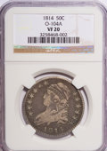 Bust Half Dollars: , 1814 50C VF20 NGC. O-104A. NGC Census: (4/39417). PCGS Population(3/367). Mintage: 1,039,075. Numismedia Wsl. Price for N...