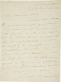 "Autographs:Statesmen, Susan B. Anthony Autograph Letter Signed. One page, 8.5"" x 10"",January 21, 1899, Rochester, New York. The letter is to Mrs...."
