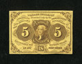Fractional Currency:First Issue, Fr. 1230 5¢ First Issue Very Choice New....