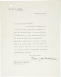 """Autographs:U.S. Presidents, Warren G. Harding Typed Letter Signed as President with AppointmentArchive. Two pages including integral blank, 7"""" x 9"""" on ..."""