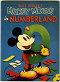 Memorabilia:Disney, Mickey Mouse in Numberland Activity Book #745 (Whitman, 1938)....