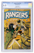 Golden Age (1938-1955):War, Rangers Comics #16 (Fiction House, 1944) CGC FN 6.0 Slightlybrittle pages....
