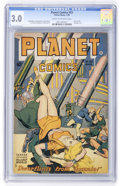 Golden Age (1938-1955):Science Fiction, Planet Comics #53 (Fiction House, 1948) CGC GD/VG 3.0 Cream tooff-white pages....