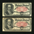 Fractional Currency:Fifth Issue, Fr. 1381 50¢ Fifth Issue About New & Extremely Fine. Two NotesTotal.... (Total: 2 notes)