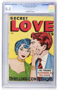 Golden Age (1938-1955):Romance, Secret Love Stories #nn (Fox Features Syndicate, 1949) CGC FN+ 6.5Light tan to off-white pages....