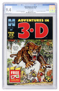 Golden Age (1938-1955):Adventure, Adventures in 3-D #1 File Copy (Harvey, 1953) CGC NM 9.4 Off-white pages....