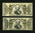 Fractional Currency:Third Issue, Fr. 1337 50¢ Third Issue Spinner VF. Fr. 1338 50¢ Third Issue Spinner Choice New.... (Total: 2 notes)