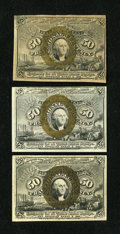 Fractional Currency:Second Issue, Fr. 1318 50¢ Second Issue New. Fr. 1320 50¢ Second Issue New. Fr. 1321 50¢ Second Issue VF.... (Total: 3 notes)