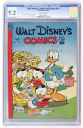 Golden Age (1938-1955):Cartoon Character, Walt Disney's Comics and Stories #107 (Dell, 1949) CGC NM- 9.2Off-white pages....