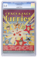 Golden Age (1938-1955):Miscellaneous, Crackajack Funnies #2 (Dell, 1938) CGC VG/FN 5.0 Cream to off-white pages....