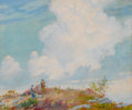American:Impressionism, CHARLES COURTNEY CURRAN (American, 1861-1942). Pink Cloud OverMountain, 1925. Oil on canvas laid on board. 18 x 22 inch...