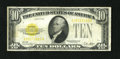 Small Size:Gold Certificates, Fr. 2400 $10 1928 Gold Certificate. Fine.. This is a bright, problem free example off this popular series....